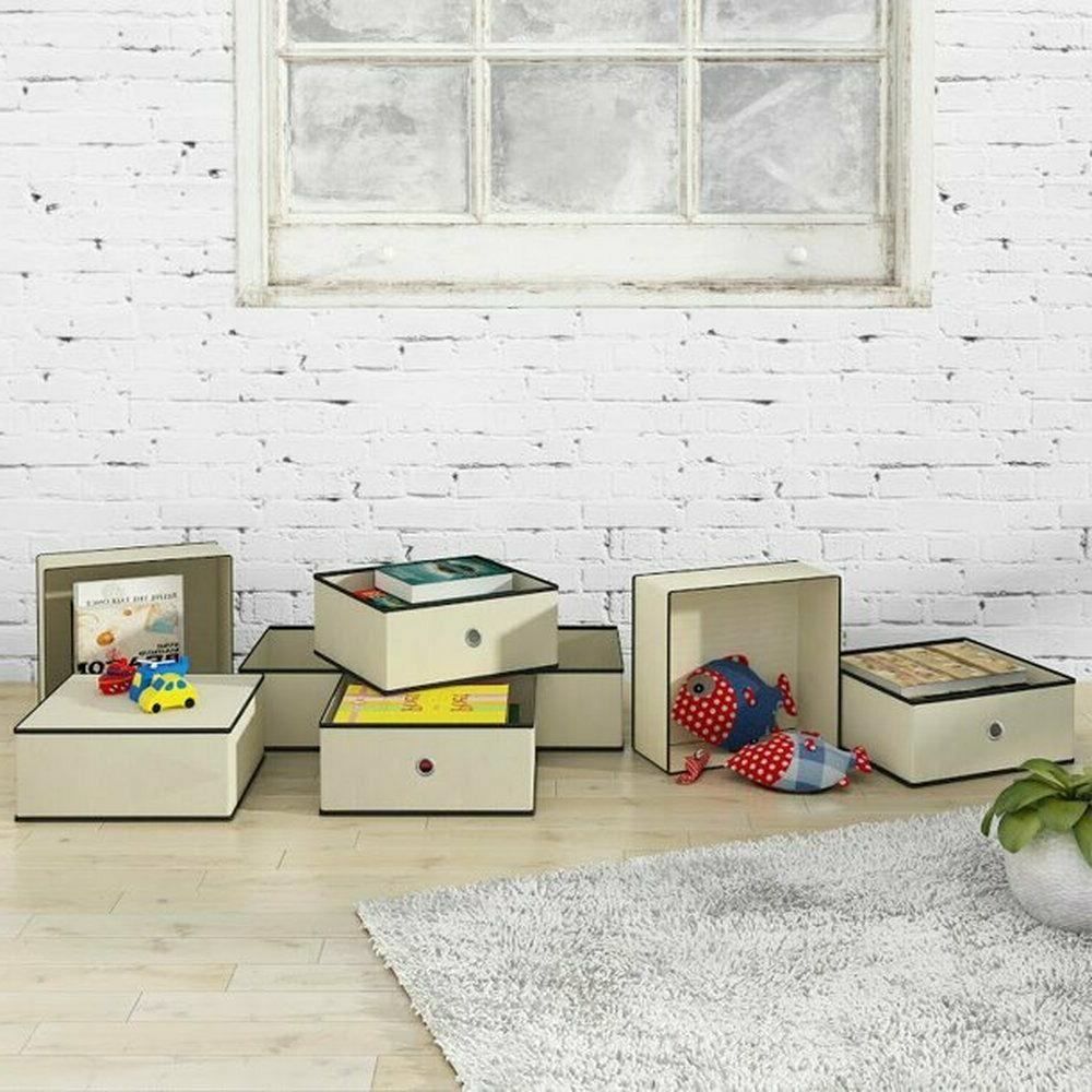 Home Storage Cubes Fabric Basket Drawers