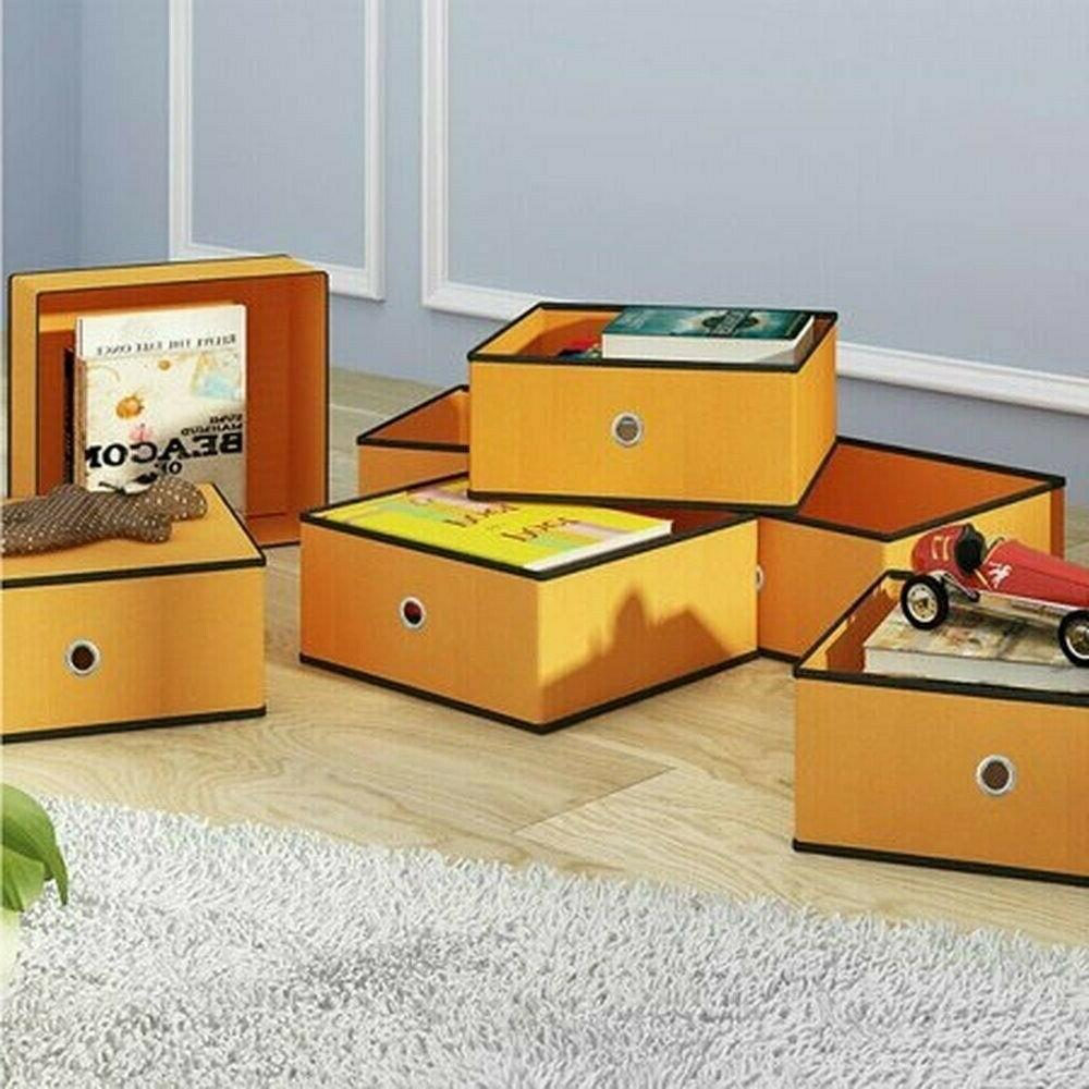 Home Foldable Cubes Drawers Organizer 8-Pack