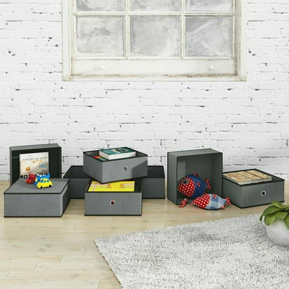 Home Foldable Storage Bins Cubes Cubby Drawers Organizer 8-Pack