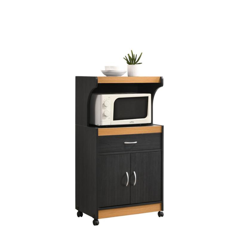 home office furniture black microwave kitchen cart