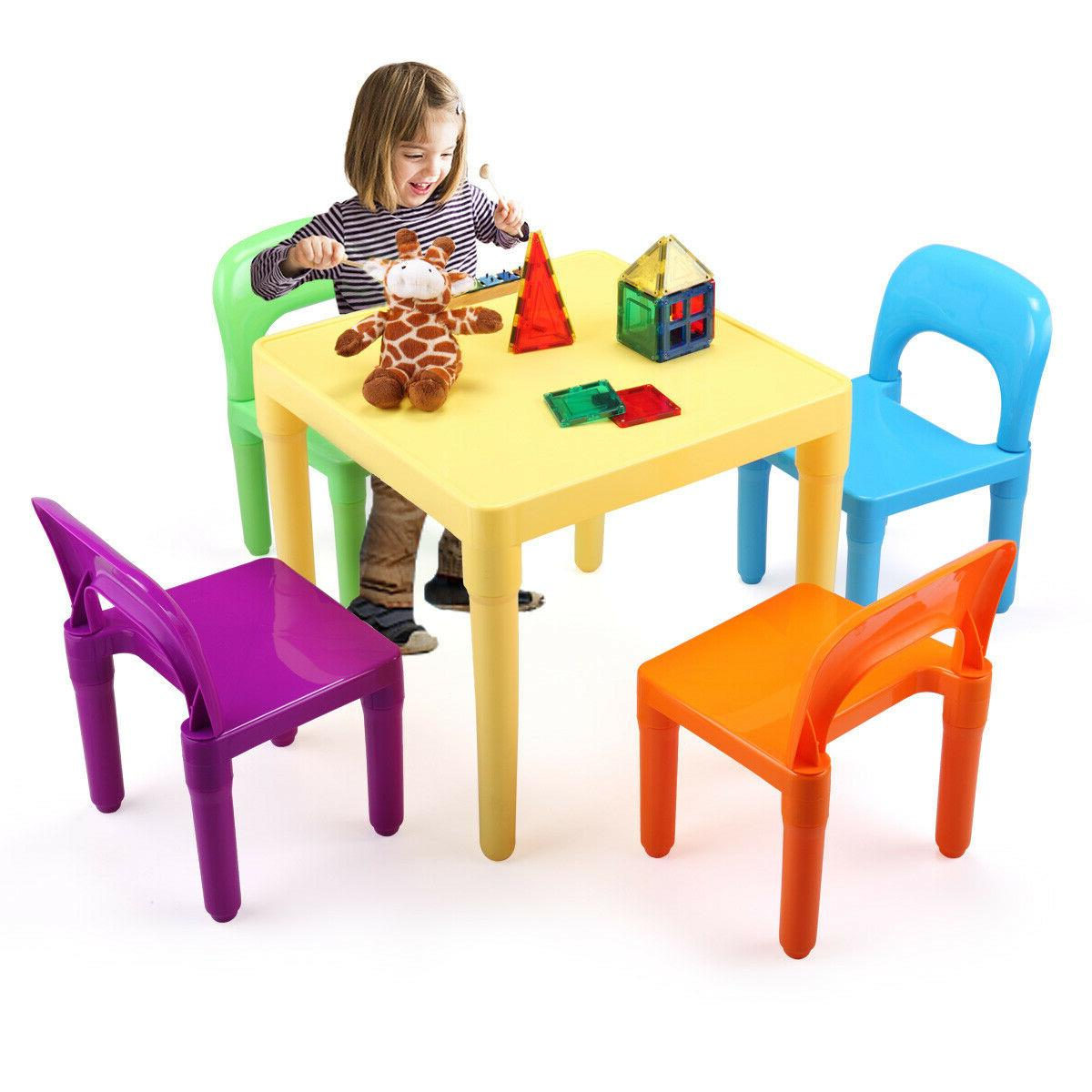 4 Chairs Set Play Set Vibrant