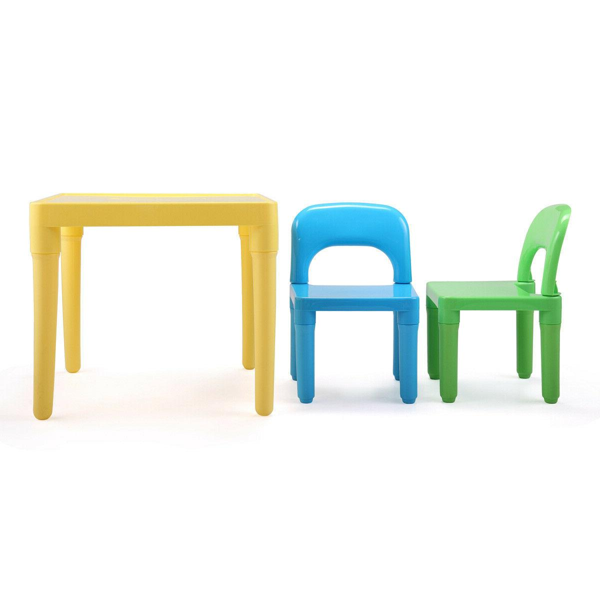 Kids Table 4 Chairs Play Set