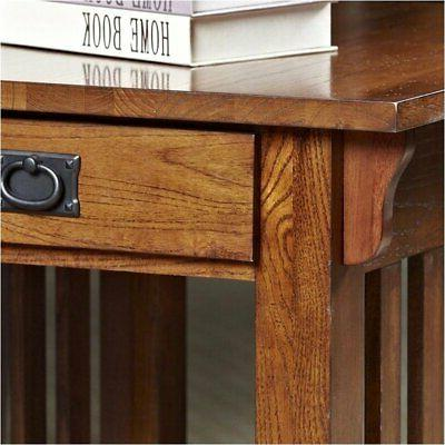 Bowery Hill Mission Table with Storage and Shelf in