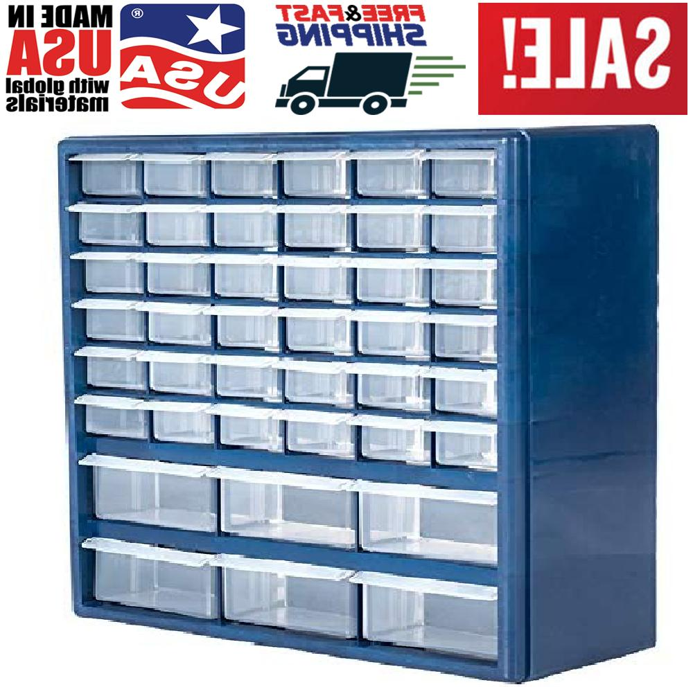 plastic cabinet 42 drawer hardware craft parts
