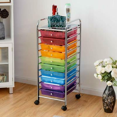 rolling cart organizer drawers school home office