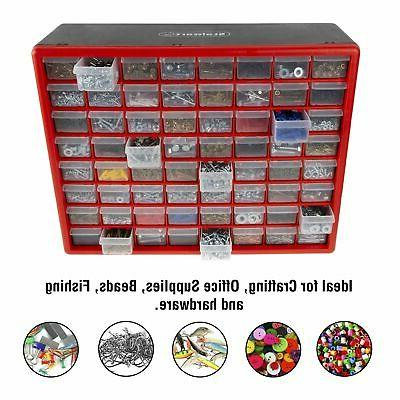 storage drawers 64 compartment desktop or wall
