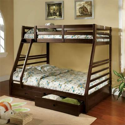 tomi wood twin over full storage bunk