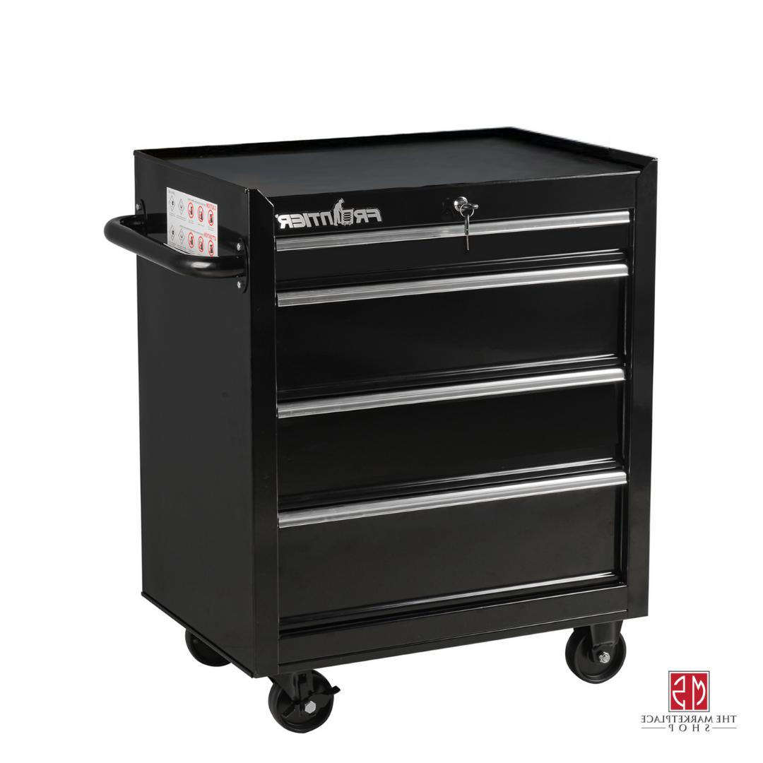 Tool Box Chest Rolling Cabinet 26 Inches 4 Drawers Bottom Storage