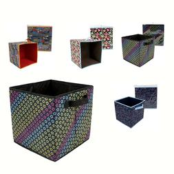 LOT Foldable Cloth Storage Cube Basket Bins Organizer Contai