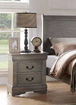 Acme Furniture Louis Philippe 23863 Nightstand, Antique Gray