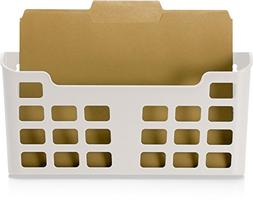 Officemate MagnetPlus Magnetic Letter Size File Pocket, Whit