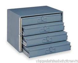 METAL 24 HOLE STORAGE TRAY / CABINET AND SLIDE RACK WITH FOU