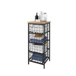 Linon Metal and Wood Drawer Unit
