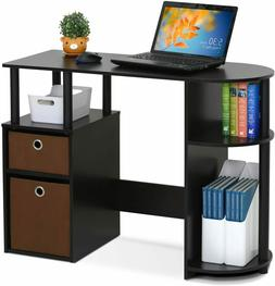 Modern All In One Home Office Computer Desk w/ 3 Storage She
