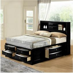 new ultimate 8 drawers storage black queen