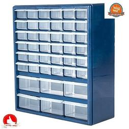 Plastic Cabinet 42-Drawer Hardware Craft Parts Tool Home Bin