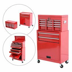 Portable Removable Top Chest Rolling Tool Storage Box Cabine