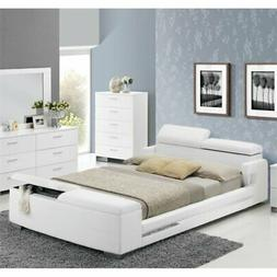 Bowery Hill Queen Storage Bed in White