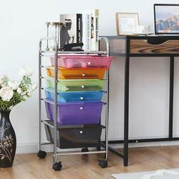 Rolling Cart Organizer 6 Drawer School Home Office Crafts Or