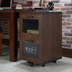 Rolling Industrial File Cabinet 2 Drawers Storage Office Org