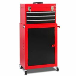 Rolling Tool Chest Cabinet Storage Chest Box Garage Toolbox