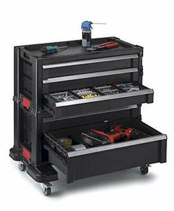 Rolling Tool Chest with Storage Drawers, Locking System and
