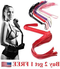 SM-Leather-Whip-Flogger-Adult-Alternative-Handle-Sex-Toy-Taw