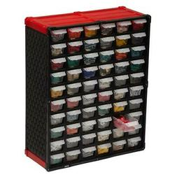Small Parts Organizer 60 Compartment Plastic Tool Storage Ra