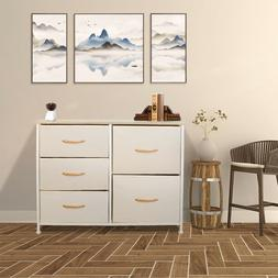 Storage Cabinet With 5 Drawers 2 Style Baskets Home Office S