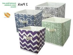 Storage Cube 2 PACK Fabric Basket Bin Container Shelves Cubb
