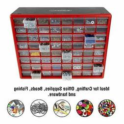 STALWART STORAGE DRAWERS 64 COMPARTMENT DESKTOP OR WALL MOUN