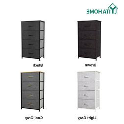 YITAHOME Storage Drawers Dresser Furniture 4 Bins Bedroom Ch
