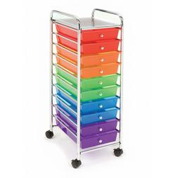 Seville Classics Storage Organizer 10 Drawer Rolling Cart Of