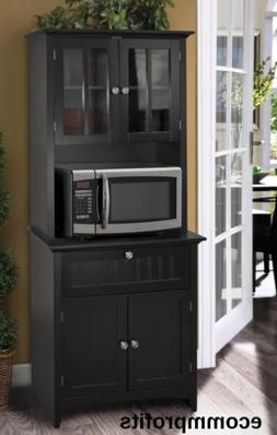 Tall Kitchen Cabinet Microwave Stand Storage Drawers Doors S