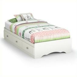 South Shore Tiara Mates Bed with 3 Drawers - 76.3 x 40.3 x 1