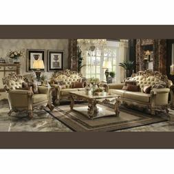 Acme Furniture Vendome Gold Sofa and Loveseat Living Room Se