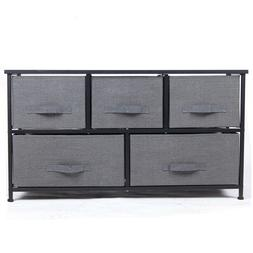 Wide Drawer Dresser Storage Unit Shelf Organizer Bins Chest